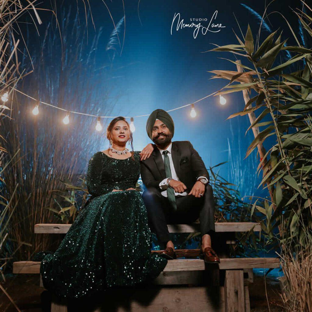 Outdoor wedding shoot in chandigarh