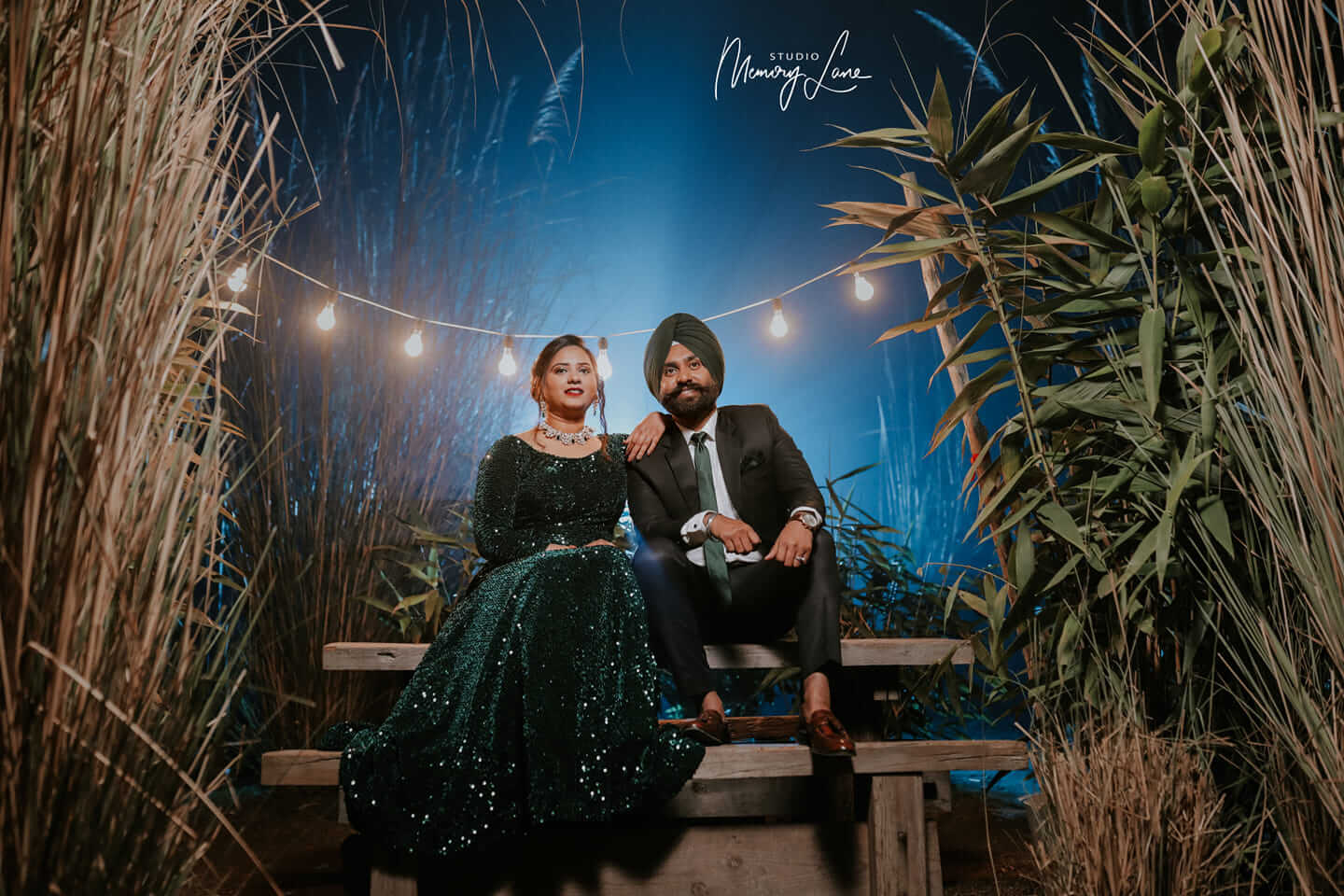 Outdoor wedding shoot in chandigarh